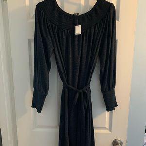 Long sleeve LOFT dress with waist belt